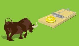 Oplopende marktval Het idee van het concept Stock Foto