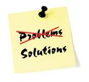 Oplossen het van het Bedrijfs probleem van de schrapping van de Oplossing stock illustratie