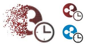 Oplossend het Kredietpictogram van de Pixel Halftone Rimpeling vector illustratie