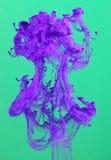Oplossende Violette Inkt Stock Foto's