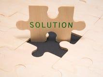 Oplossing - bedrijfsmetafoor Royalty-vrije Stock Afbeeldingen