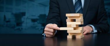 Oplossing en verzekering Stock Fotografie