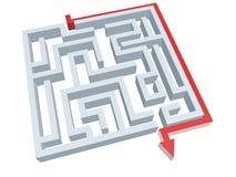 Oplossing van labyrint Royalty-vrije Stock Afbeeldingen