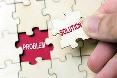 Oplossing voor probleemconcept royalty-vrije stock fotografie