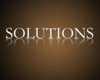 Oplossingen Stock Foto
