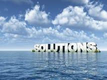 Oplossingen Stock Afbeeldingen
