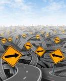 Oplossingen en strategie stock illustratie