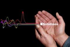Oplossingen Zes Stock Fotografie