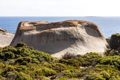 Opmerkelijke rotsen, Kangoeroeeiland, de jacht nationaal park van Flinder, Zuid-Australi? royalty-vrije stock afbeeldingen