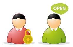 Opne ha chiuso l'utente royalty illustrazione gratis
