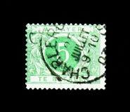Opnieuw getekende Cijfer -, Gepaste Port - Gekleurde Cirkel serie, circa 191 Royalty-vrije Stock Afbeeldingen