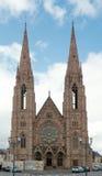 Opnieuw gevormde Kerk Saint Paul, Straatsburg, Frankrijk Stock Foto