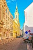 Opnieuw gevormde Stadskerk op Dorotheergasse in Wenen Royalty-vrije Stock Foto's
