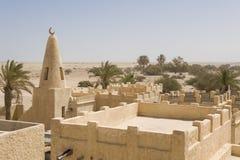 Opnieuw opgebouwd Arabisch dorp Royalty-vrije Stock Fotografie