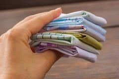Opnieuw te gebruiken 100 percenten katoenen zakdoeken Stock Afbeeldingen