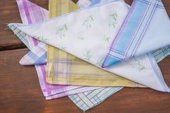 Opnieuw te gebruiken 100 percenten katoenen zakdoeken Stock Foto's