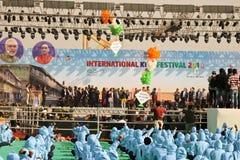 Opningsceremonie bij 29ste Internationaal Vliegerfestival 2018 - India Royalty-vrije Stock Afbeeldingen