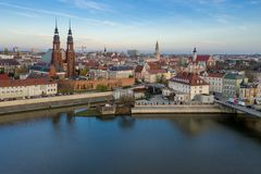 Opole, aerial view of Old Town. Poland, autumn day. stock photography