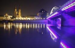 Opole em a noite Fotos de Stock Royalty Free
