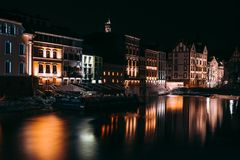 Opole by night royalty free stock photos