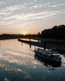 Opole Odra river landscape royalty free stock image