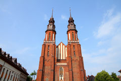 Opole, Poland. City architecture. Famous cathedral church royalty free stock photos
