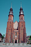 Opole, Poland Famous cathedral church. Stock Images