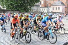 Opole, Poland - 06/08/2020: 77. Tour de Pologne - Tour of Poland - the biggest Polish road bicycle racing stage race in 2020 start