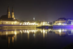 Opole por noche Imagen de archivo