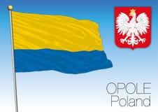 Opole regional flag, Poland Stock Photo