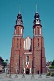 Opolski, Polska Sławny katedralny kościół Obrazy Stock