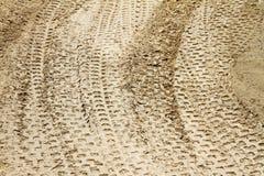 Opona ślada w piasku Fotografia Royalty Free