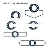 Opona loga Sklepowy projekt - opony Biznesowy Oznakować, opona loga sklepu ikony, opon ikony, samochodowej opony proste ikony royalty ilustracja