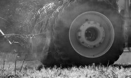 Opony i pył Fotografia Stock