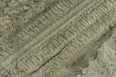 Opony w piasku Zdjęcia Royalty Free