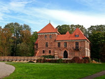 Oporow castle, Poland Stock Photo
