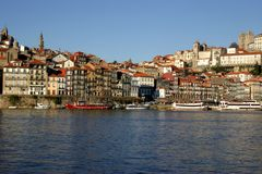 Oporto. City view in portugal Royalty Free Stock Images