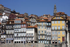 Oporto. View of the old part of the oporto city - Portugal Royalty Free Stock Images