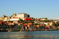 Oporto. A view on Oporto from Douro river Royalty Free Stock Photography