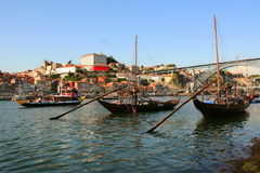 Oporto. A view on Oporto from Douro river Royalty Free Stock Images