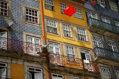 Oporto. Detail of traditional buildings in Oporto city, Portugal Royalty Free Stock Photos