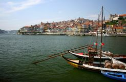 Oporto. Detail of traditional boats in the city of Oporto, Portugal Stock Images
