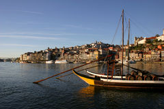Oporto. Typical boat at oporto city on the north of portugal Stock Photography
