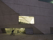 Дом Oporto музыки на ноче Стоковое Изображение