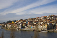 Oporto. View from Oporto city in Portugal Stock Photos