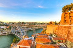 Oporto aerial view Royalty Free Stock Photos