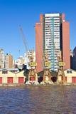 Oporto Alegre Port - Río Grande del Sur - el Brasil Foto de archivo