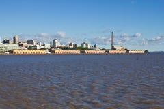 Oporto Alegre Port - Río Grande del Sur - el Brasil Foto de archivo libre de regalías