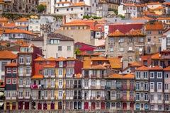 Oporto alloggia le facciate, Portogallo Fotografie Stock