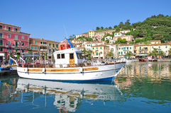 Oporto Azzurro, isola dell'Elba, Italia Fotografia Stock